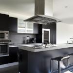 kuchnia biało czarna nowoczesna
